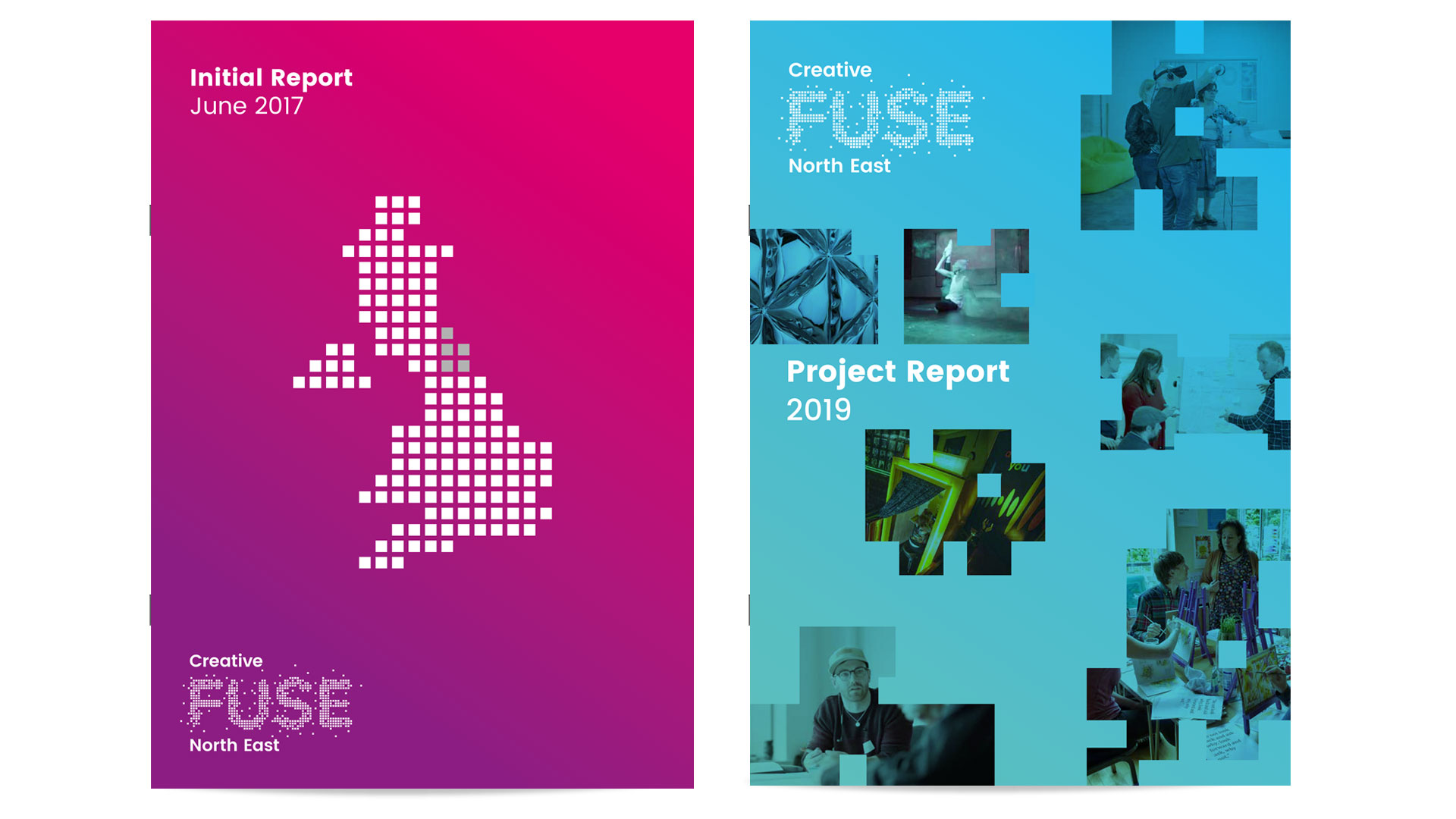 Report design and editorial design for Creative Fuse North East by Altogether Creative.