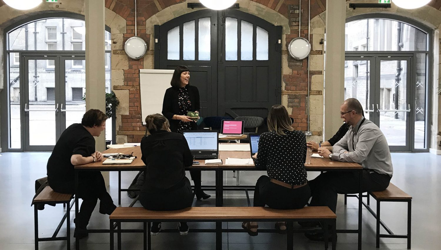 Branding workshop for Middlesbrough Town Hall, an arts, culture and music venue by Altogether Creative.