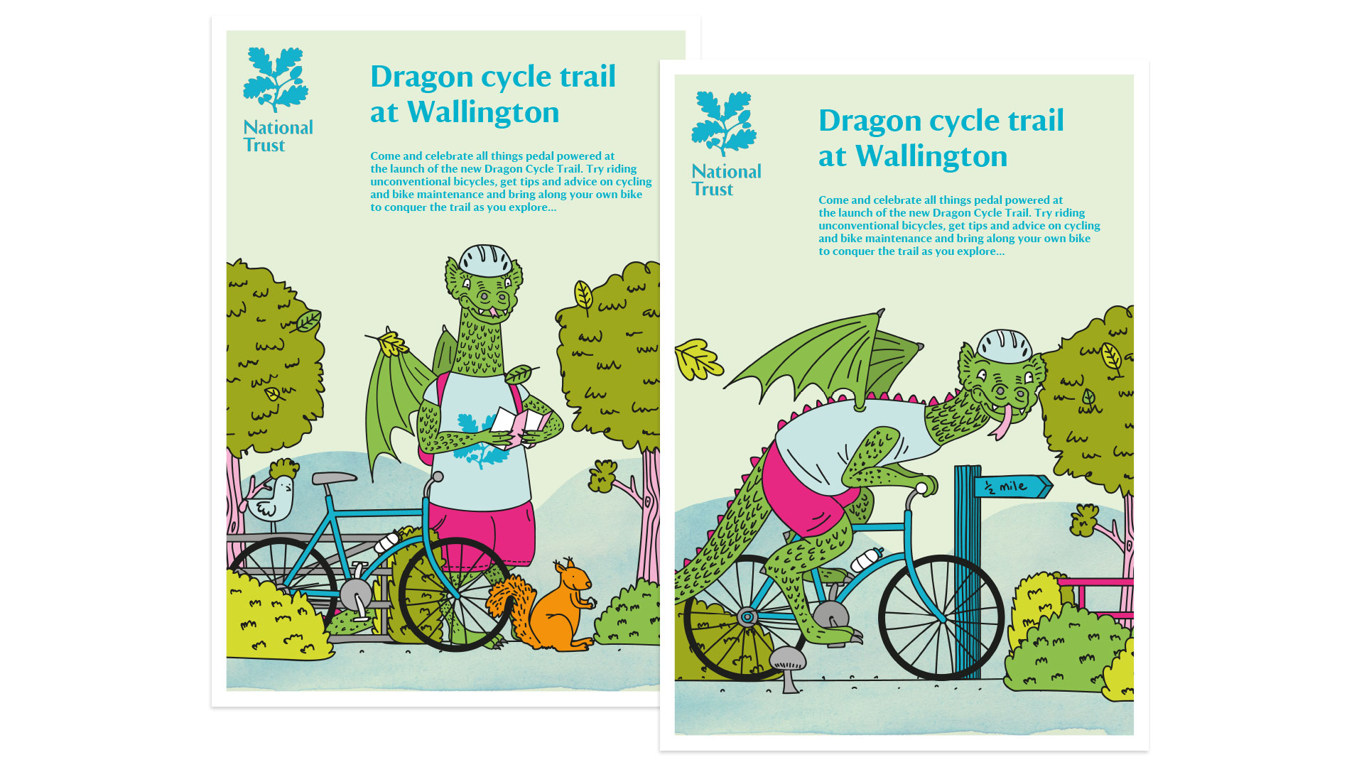 National Trust brand illustrations by Altogether Creative.