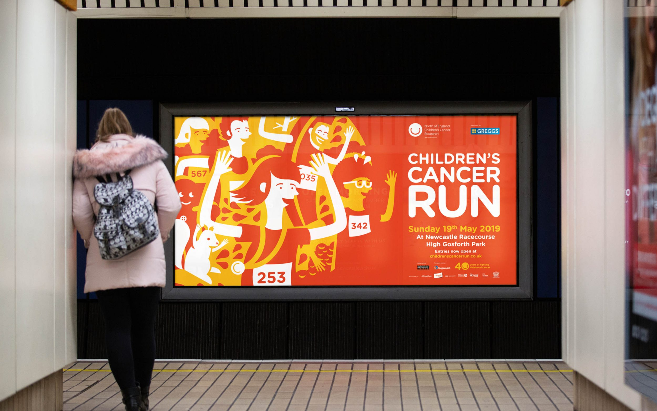 Charity branding and charity advertising campaign for NECCR Newcastle by Altogether Creative.