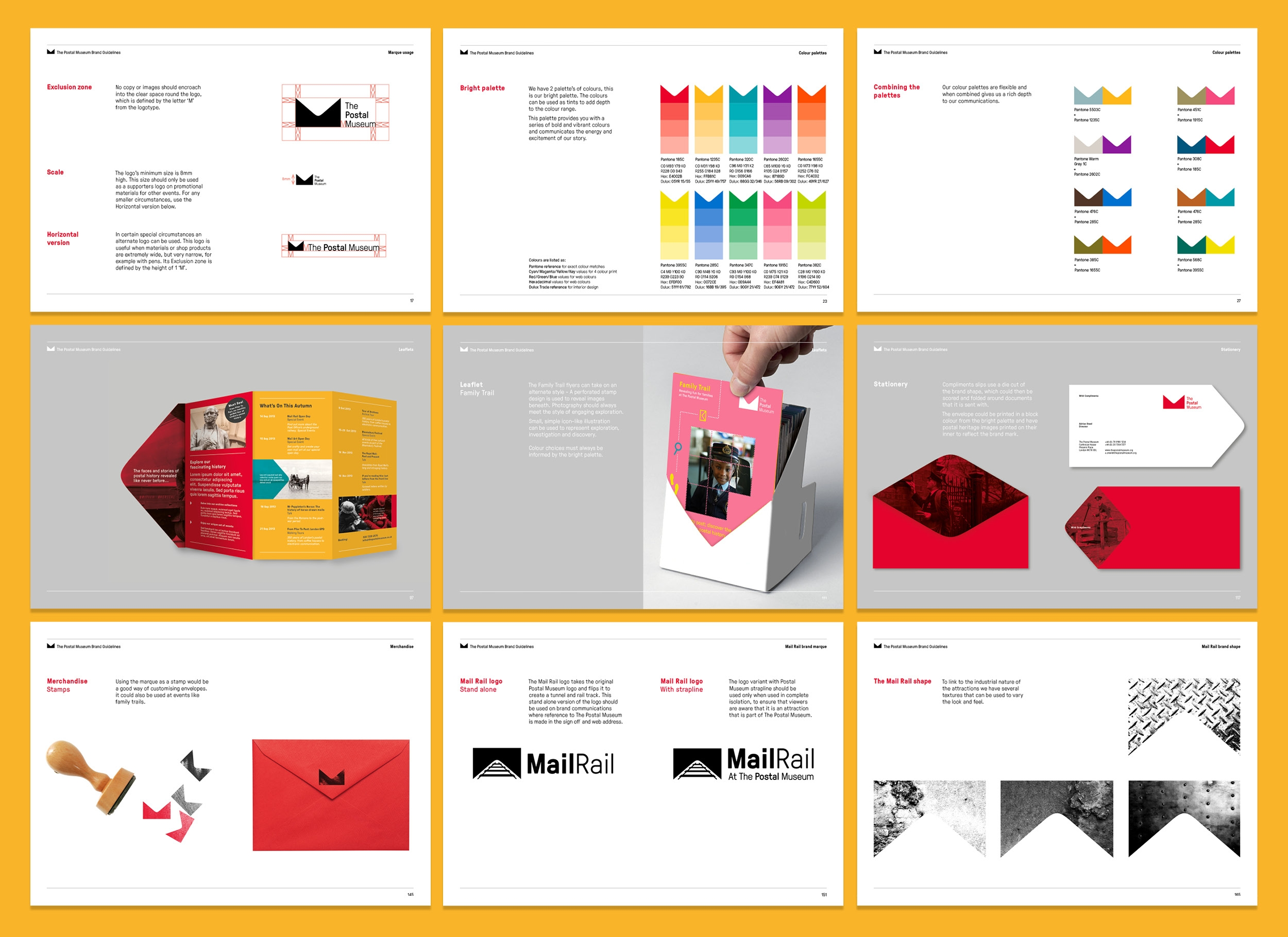 Museum branding, brand guidelines, brand values and tone of voice for The Postal Museum by Altogether Creative.