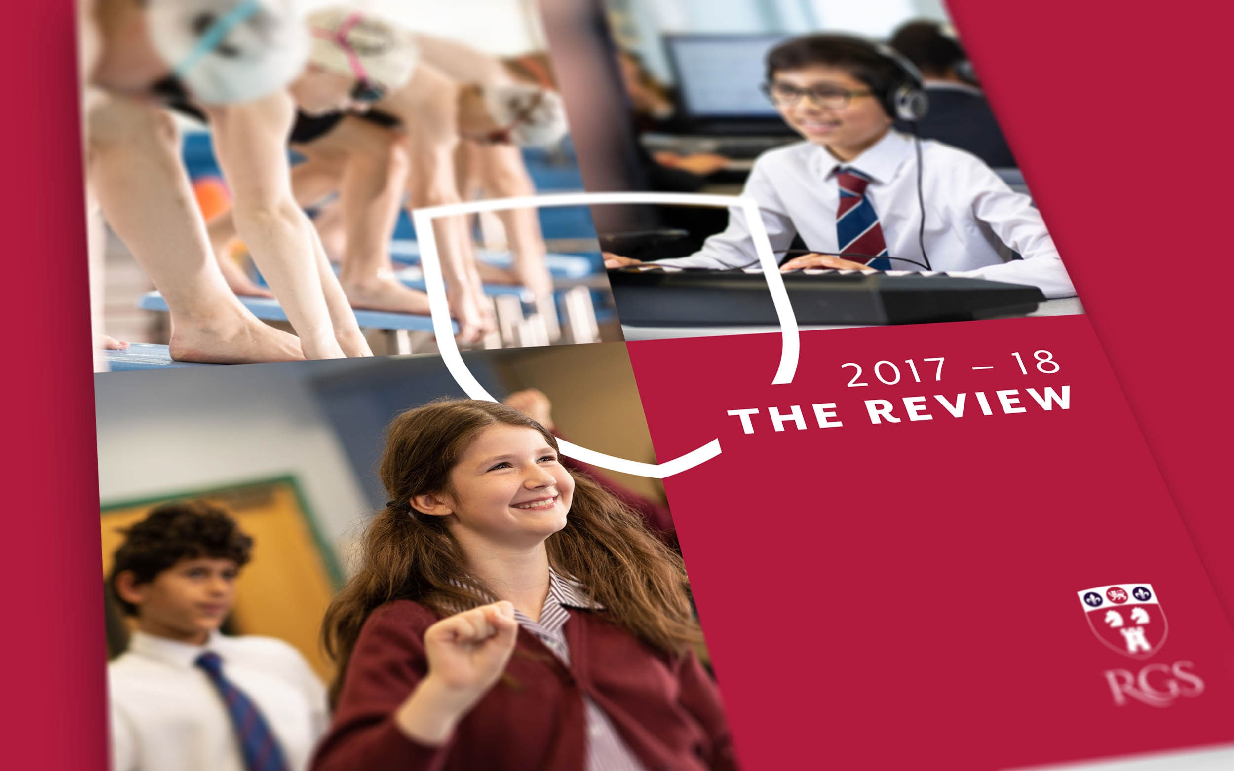 Independent school annual report, RGS independent school advertising by Altogether Creative.