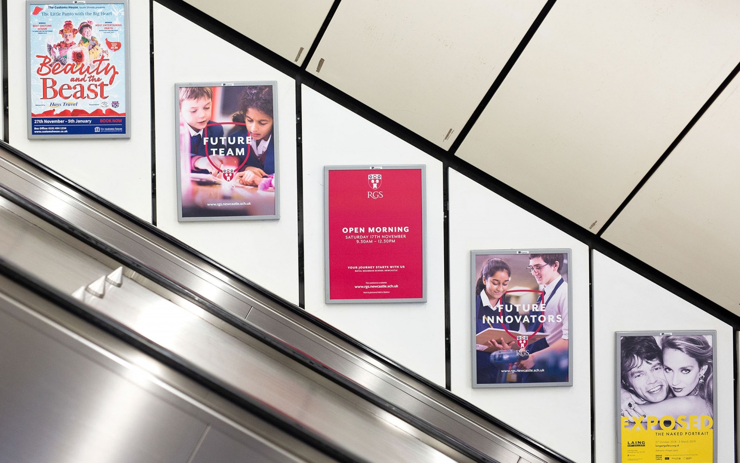 Independent school branding, RGS independent school advertising by Altogether Creative.