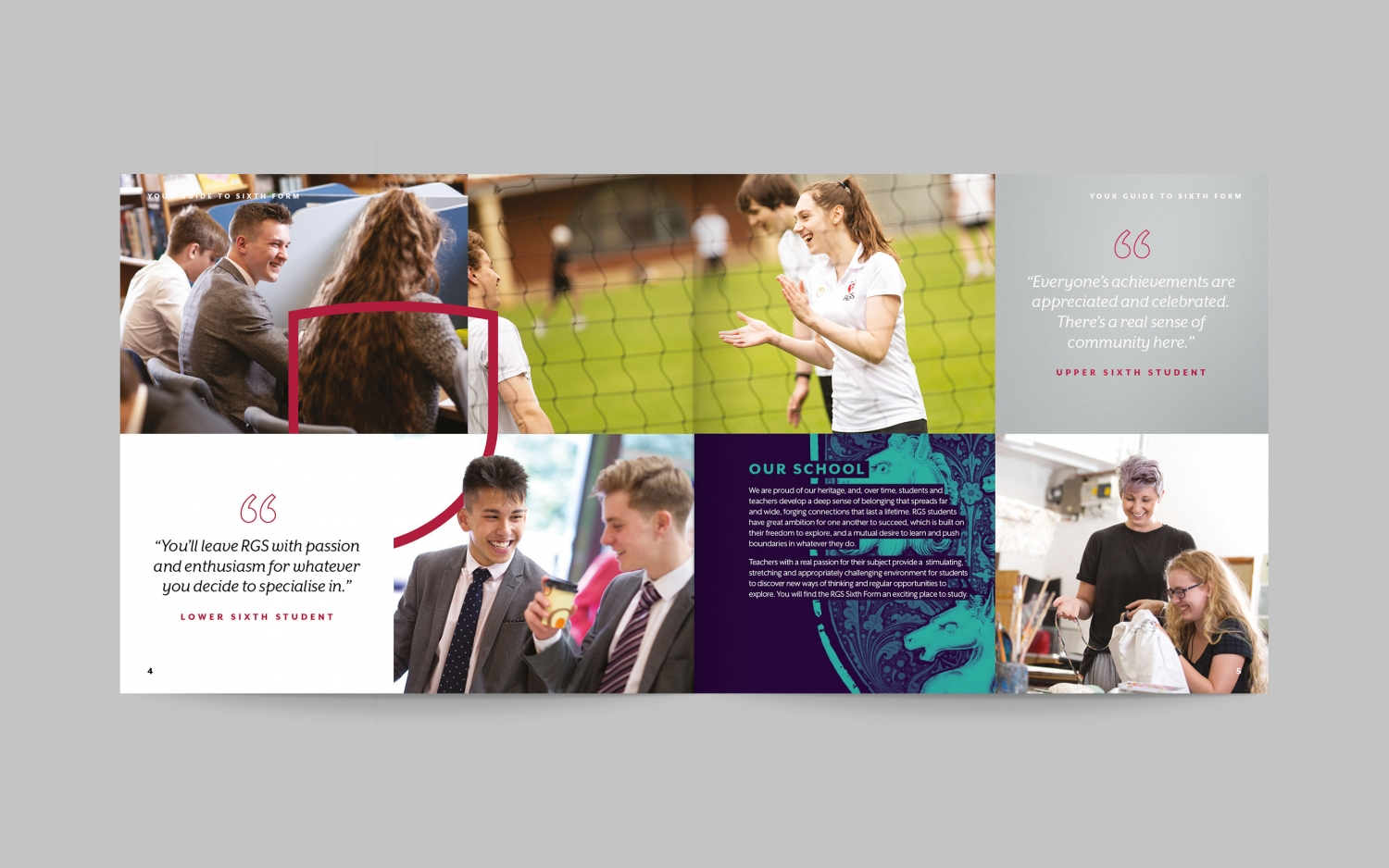 Sixth form brochure and branding for independent school by Altogether Creative.