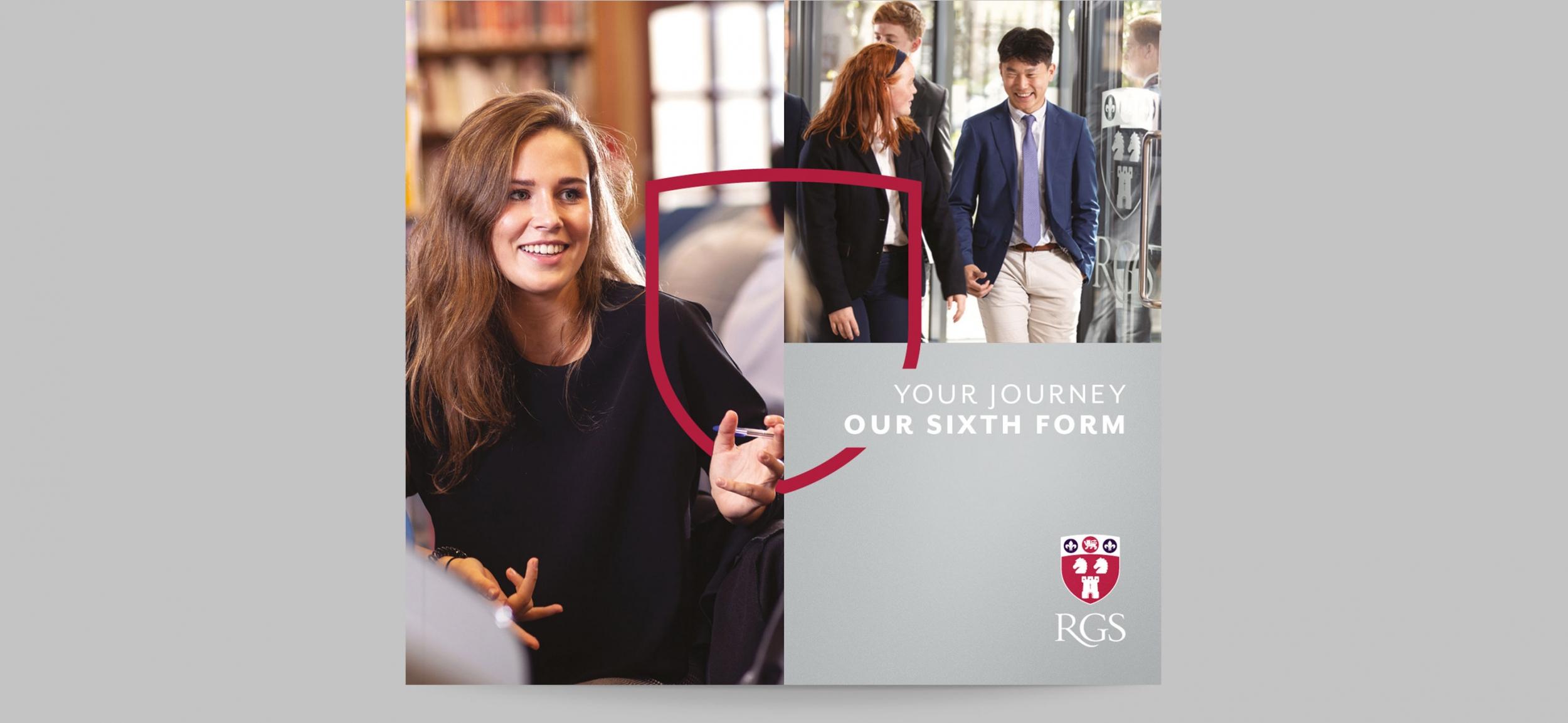 Independent school branding and sixth form brochure for Royal Grammar School