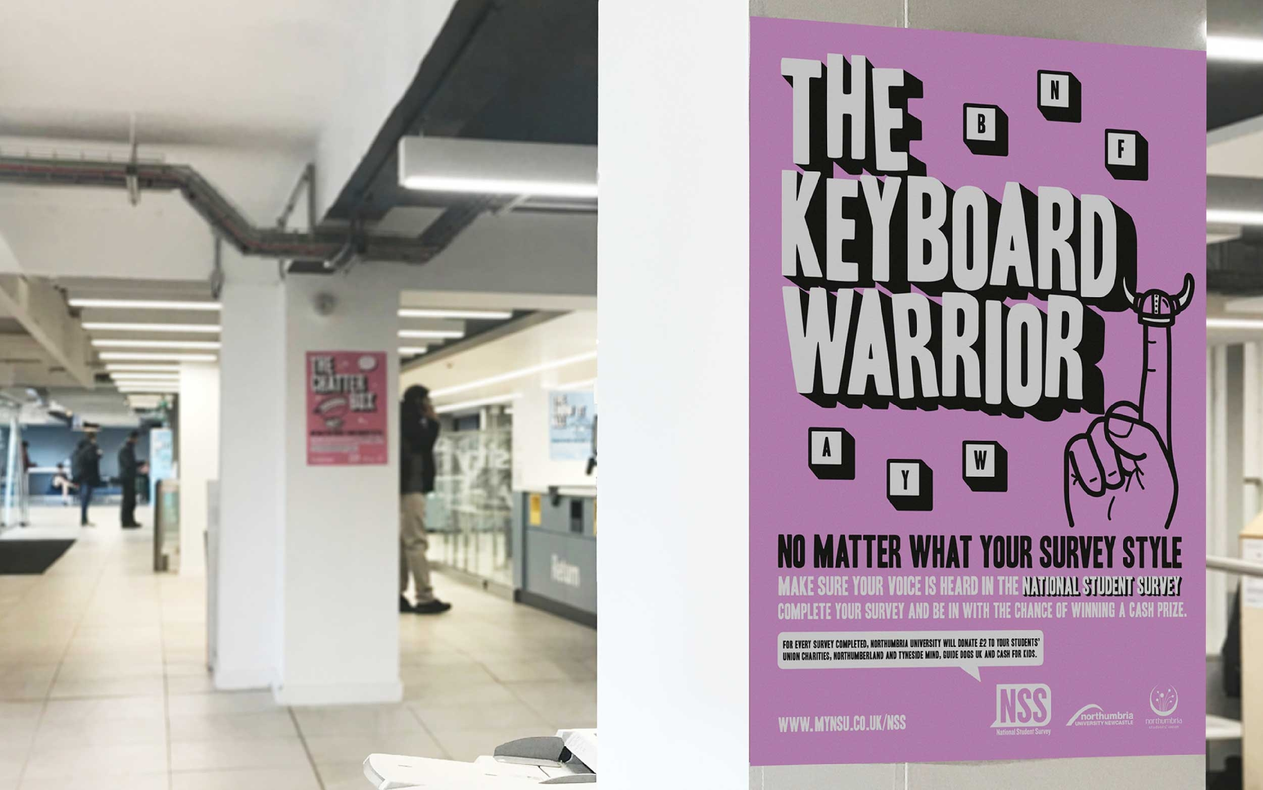 National Student Survey campaign for Northumbria University by Altogether Creative.