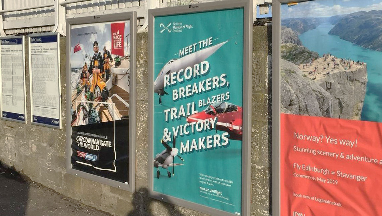 Museum advertising campaign National Museum Scotland by Altogether Creative.
