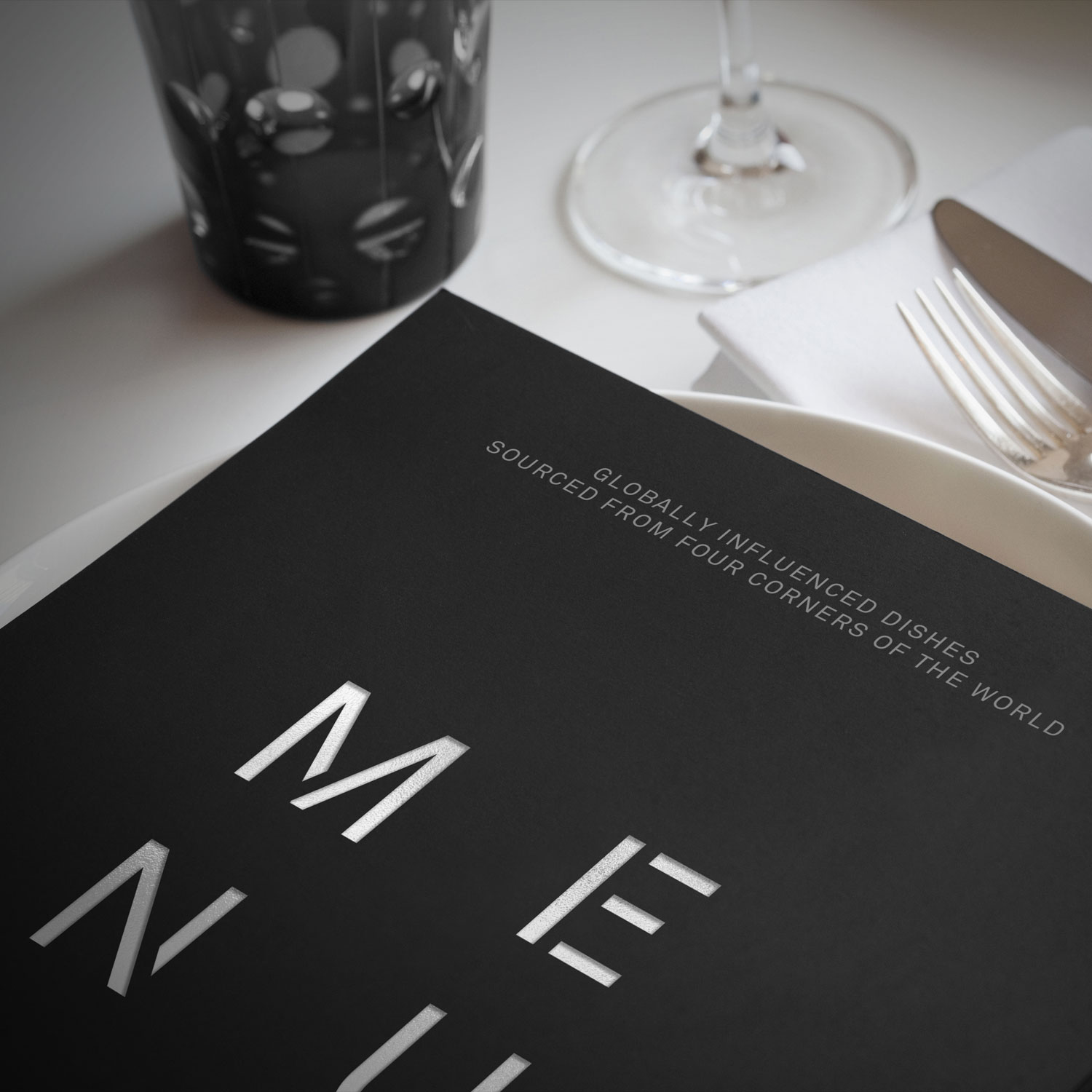 Restaurant branding, naming and menu for Newcastle United FC Four Corners by Altogether Creative.