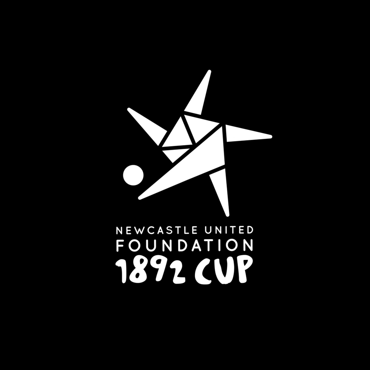 Charity brand identity for Newcastle United Foundation cup by Altogether Creative.