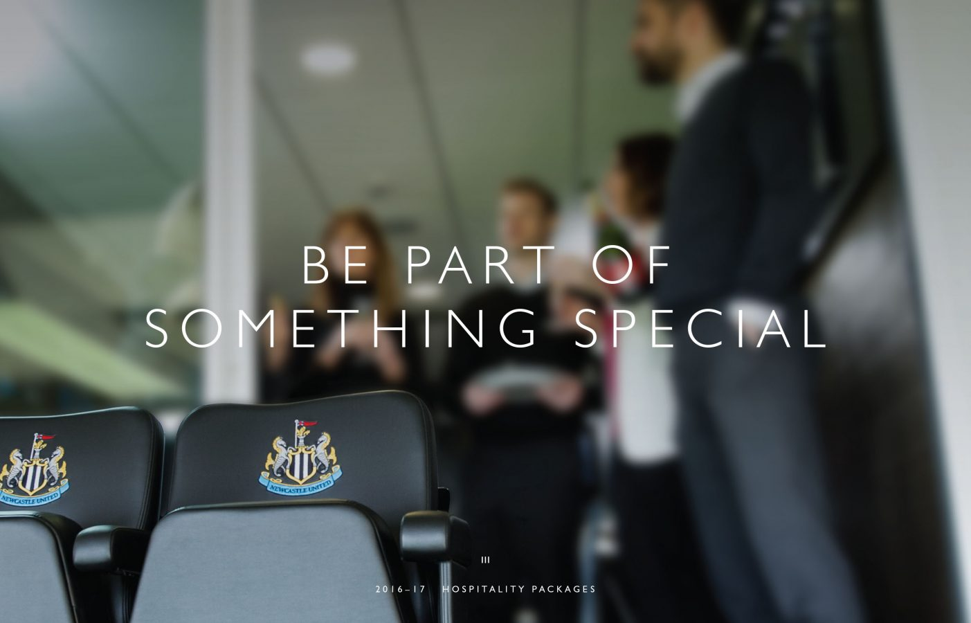 Event and hospitality brochure for Newcastle United FC