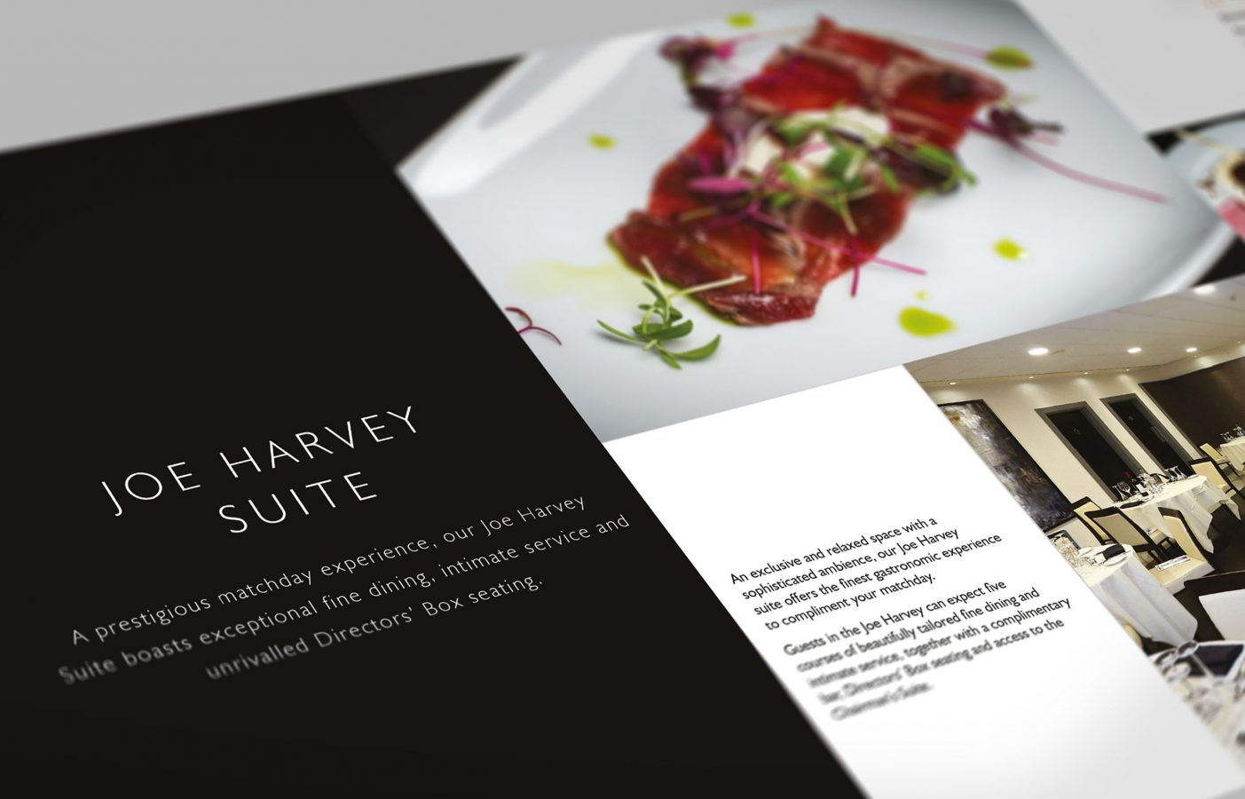 Event and hospitality brochure for Newcastle United FC by Altogether Creative.