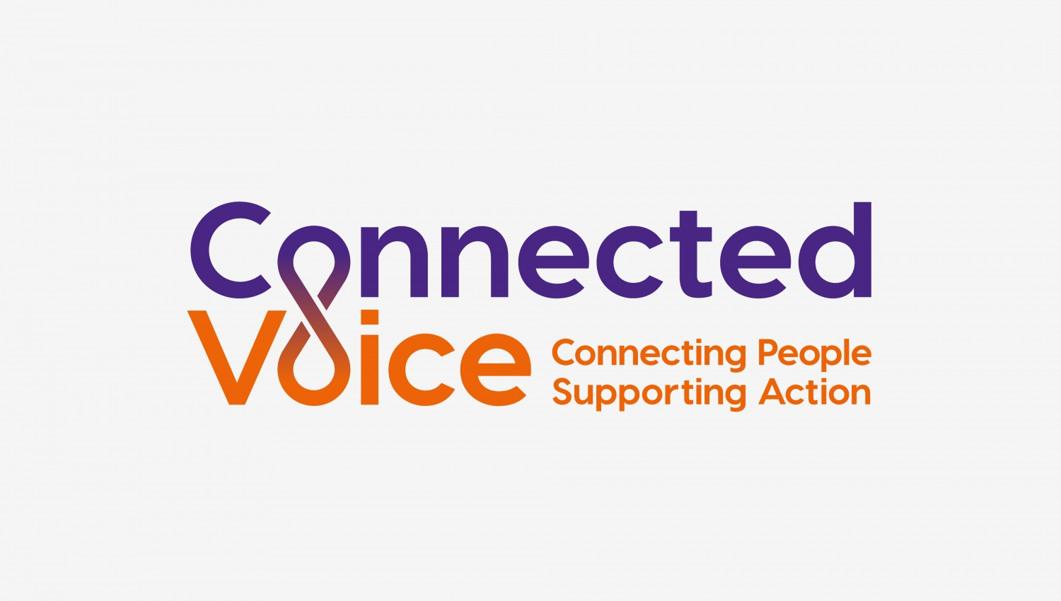 Connected Voice charity branding for regional cvs by Altogether creative.