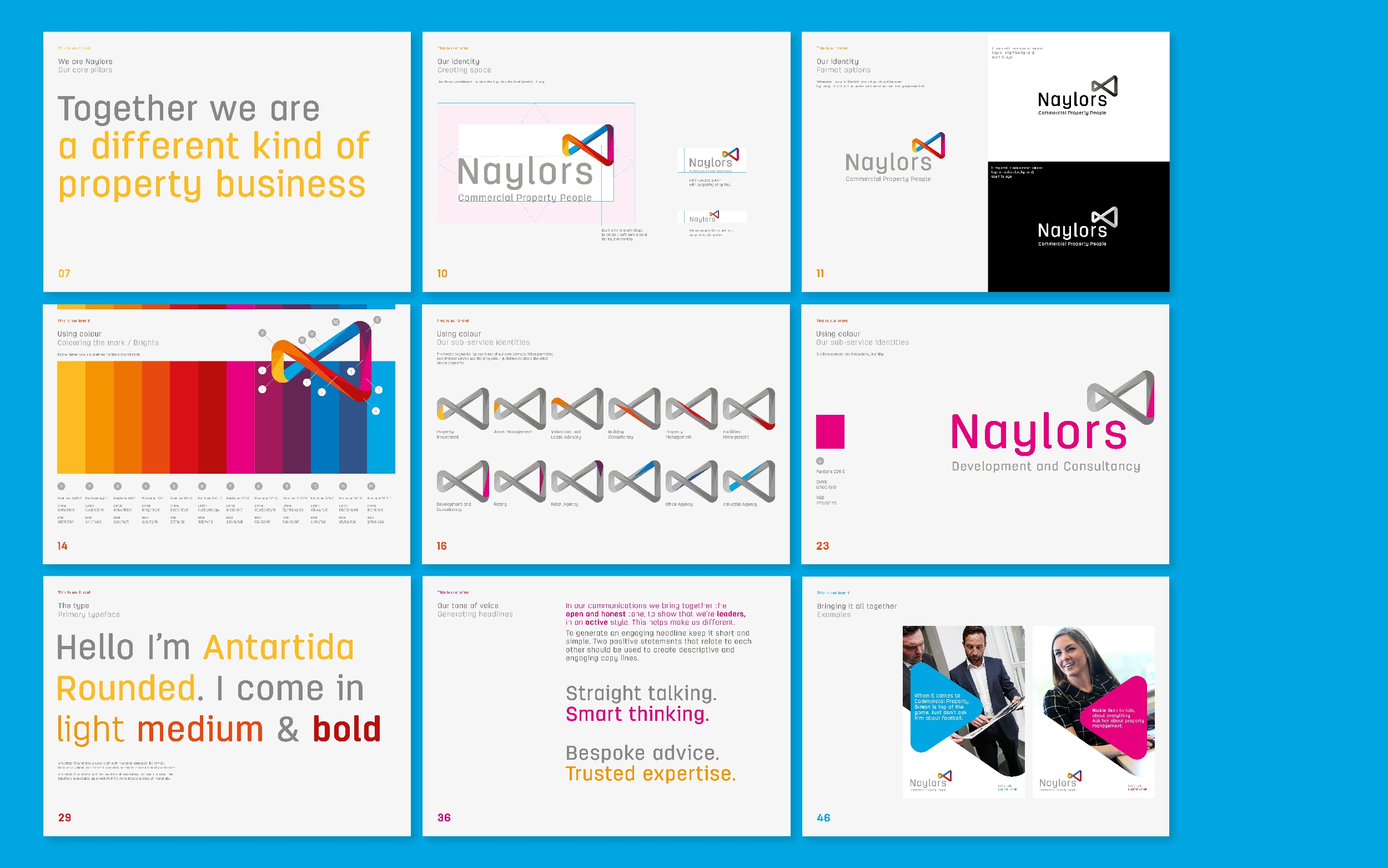 Naylors surveyors branding and brand guidelines by Altogether creative.