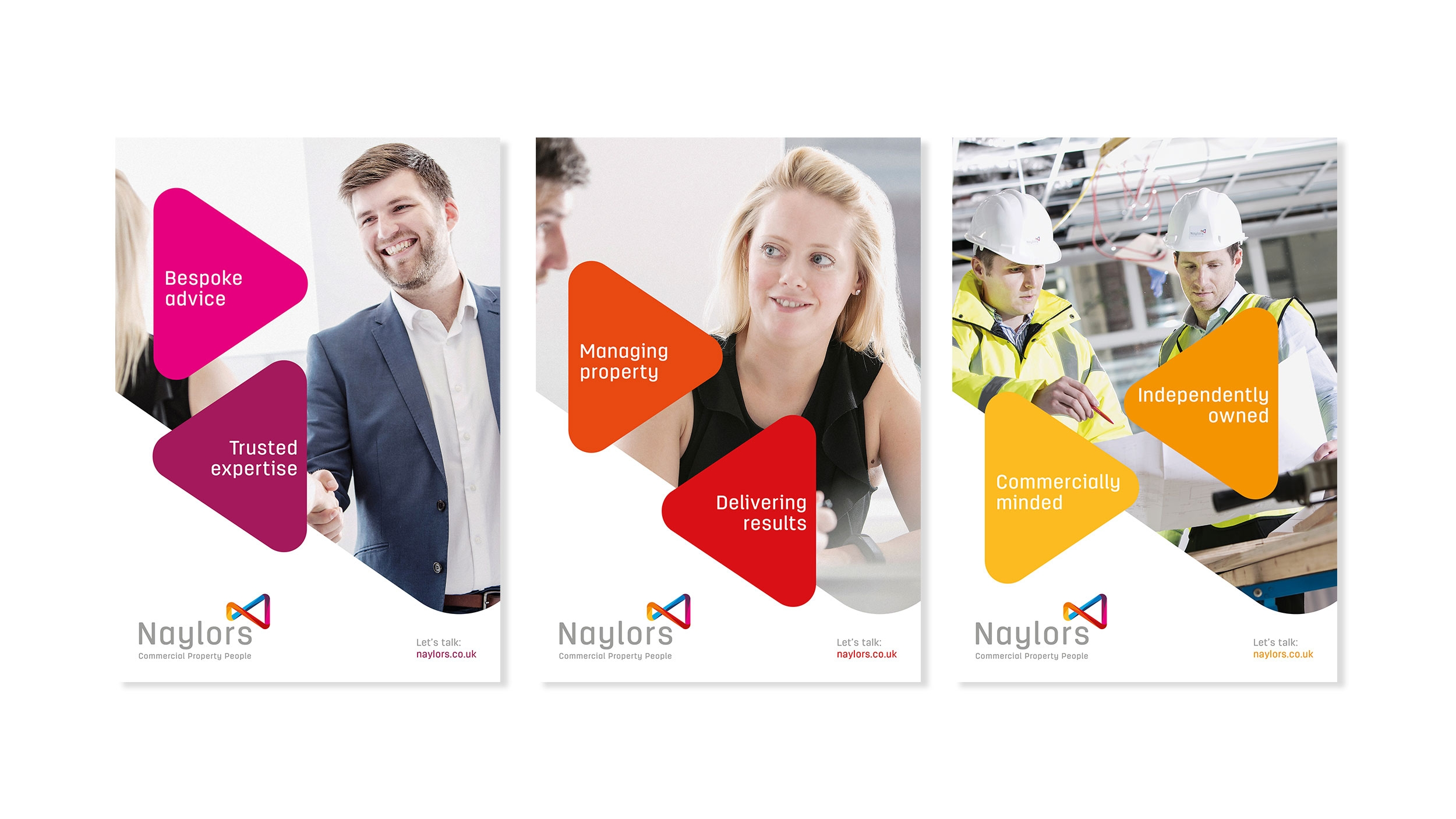 Naylors surveyors branding and brand values by Altogether creative.