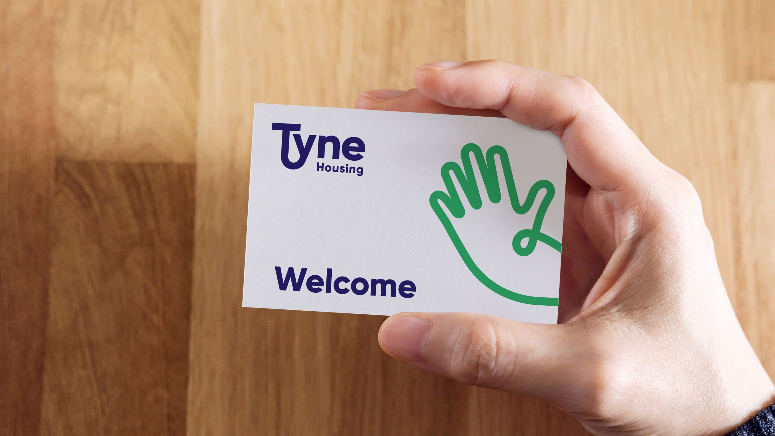 Tyne Housing association branding and business card by Altogether Creative.