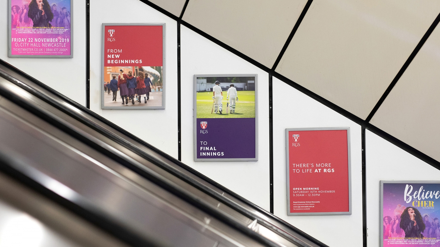 RGS Royal Grammar School Newcastle independent school education advertising campaign by Altogether Creative.