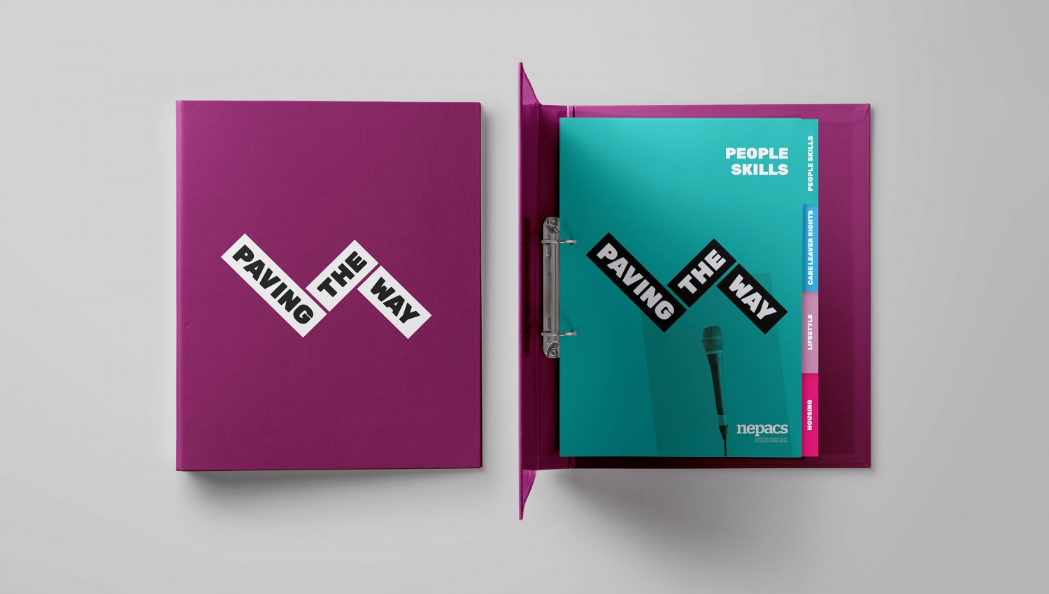 Nepacs charity prison resource programme and activity pack branding by Altogether Creative.